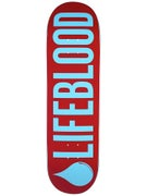 Lifeblood Lifeblood Logo Brick/Light Blue Deck  9x33