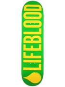 Lifeblood Logo Green/Yellow Deck  8.5 x 31.5