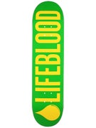 Lifeblood Logo Green/Yellow Deck  8.0 x 31.5
