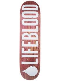 Lifeblood Logo Maroon Stain Deck  8.5 x 32.5