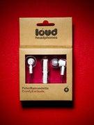 Loud Headphones Peter Ramondetta Earbuds  White