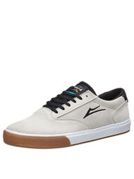 Lakai Guymar Stay Flared Shoes  White/Gum Suede