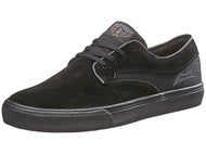 Lakai Riley Hawk Shoes  Black/Black Suede