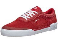 Lakai Anchor Staple Shoes Red/White Suede