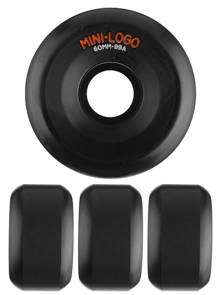 Mini Logo A-Cut Black 99a Wheels