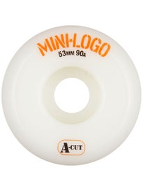 Mini Logo A-Cut White 90A Hybrid Wheels