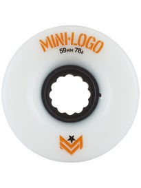 Mini Logo AWOL A-Cut White 78a Wheels