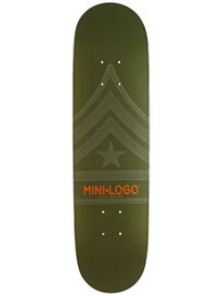 Mini Logo Quartermaster 191 Green Mini Deck 7.5x28.65