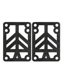 Mini Logo Riser Pads 1/4\ Black