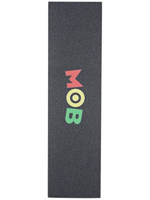Mob Colored Logo Perforated Griptape  Rasta