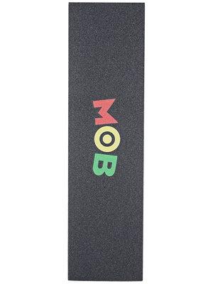 Mob Colored Logo Perforated Griptape  Rasta