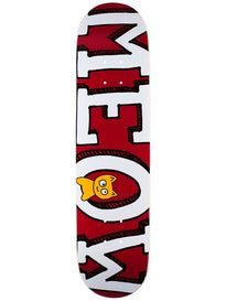 Meow Logo Maroon Deck  7.75 x 31