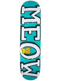 Meow Logo Mini Teal Deck  7.25 x 29