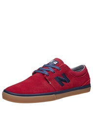 New Balance Numeric Brighton Shoes  Red/Navy Suede