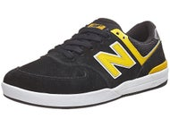 New Balance Numeric Logan-S 636 Shoes Black/Yellow