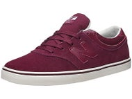 New Balance Numeric Quincy Shoes  Burgundy Suede