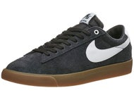 Nike SB Blazer Low GT Shoes Black/White-Gold