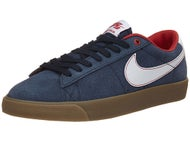 Nike SB Blazer Low GT Shoes Obsidian/White-Red-Gum