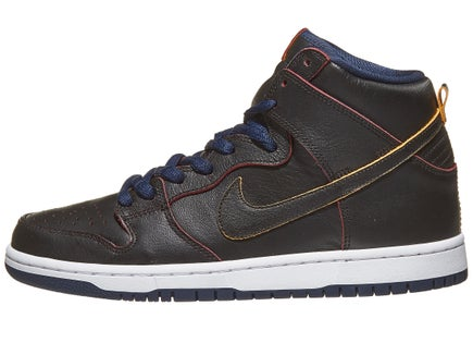 Nike SB Dunk High Pro NBA Shoes Black Black-Navy-Red ce107b926327