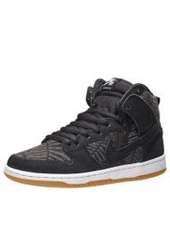Nike SB Dunk High Pro Shoes  Black/Medium Olive/Gum