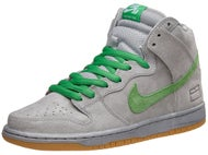 Nike SB Box Pack Dunk High QS Prm Shoes Silver/Verde