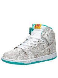 Nike SB Dunk High Premium Shoes  White/White-Hyper Jade