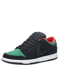 Nike SB Dunk Low Pro Shoes  Black/Green/Red/Black