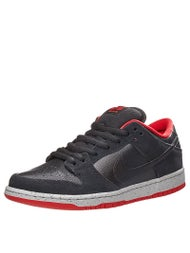 Nike SB Dunk Low Pro Shoes  Black/Black-Grey-Red
