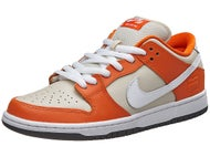 Nike SB Box Pack Dunk Low QS Prm Shoes Orange/Wht-Crm