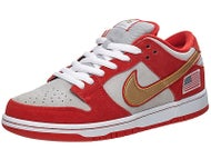 Nike SB Dunk Low Pro Shoes  Red/Silver/White