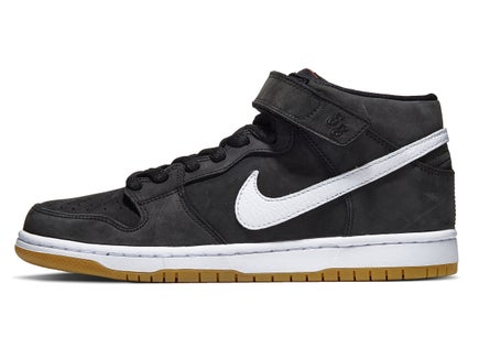3e4663d07787 Nike SB Dunk Mid Pro Shoes Black/White-Black