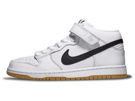 2cac6e851191 Nike SB Dunk Mid Pro Shoes White/Black-White-Gum