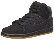 Nike SB Dunk High Pro Shoes Black/Black/Gum