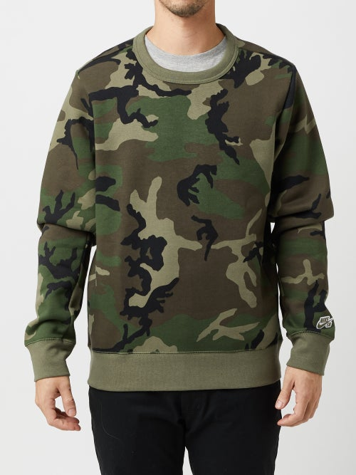 new authentic super cute detailed images Nike SB Icon Crew Sweatshirt Camo - Skate Warehouse