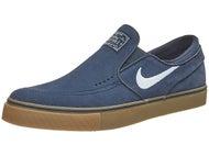 Nike SB Janoski Slip Shoes Obsidian/Gum/White