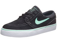 Nike SB Kids Janoski Shoes  Black/White/Green Glow