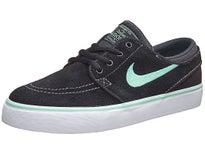 Nike SB Kids Janoski Shoes  Black/White/Green Glow