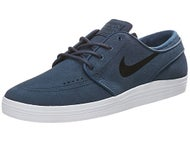 Nike SB Lunar Janoski Shoes Squadron Blue/Black/White