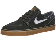 Nike SB Zoom Janoski Canvas Shoes Black/White/Gold