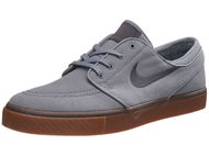 Nike SB Zoom Janoski Canvas Shoes Grey/Black-Gum