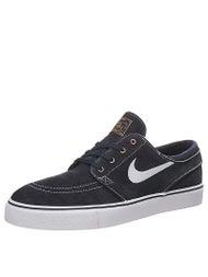 Nike SB Zoom Janoski Shoes Dk Obsidian/White