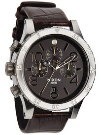 Nixon The 48-20 Chrono Leather Watch  Brown Gator