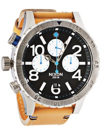 Nixon The 48-20 Chrono Leather Watch  Natural/Black