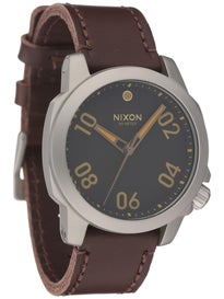 Nixon The Ranger 40 Leather Watch  Black/Brown