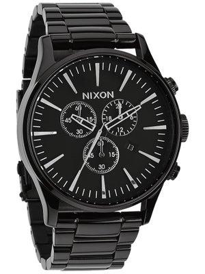 Nixon The Sentry Chrono Watch  All Black