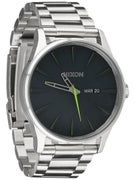 Nixon The Sentry SS Watch  Midnight Blue/Volt Green