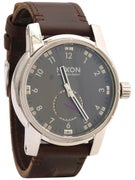 Nixon The Patriot Leather Watch Black
