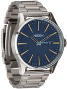 Nixon The Sentry SS Watch Navy/Brass