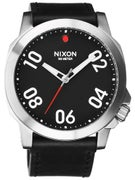 Nixon The Ranger 45 Leather Watch  Black/Red