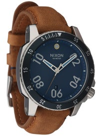 Nixon The Ranger Leather Watch Navy/Saddle